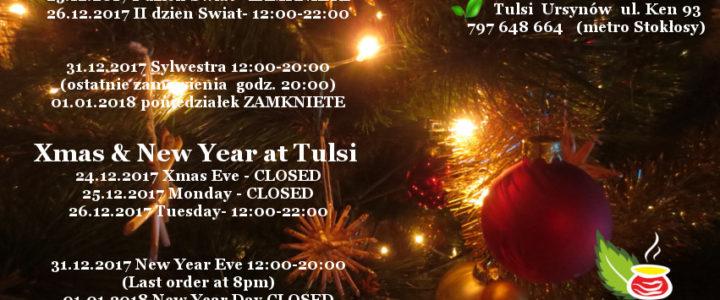 Święta, Sylwestra i Nowy Rok w Tulsi – godziny otwarcia
